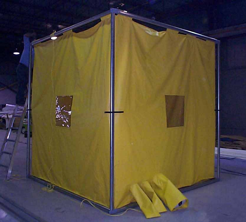 Weld Curtain Enclosures : Industrial curtains and track
